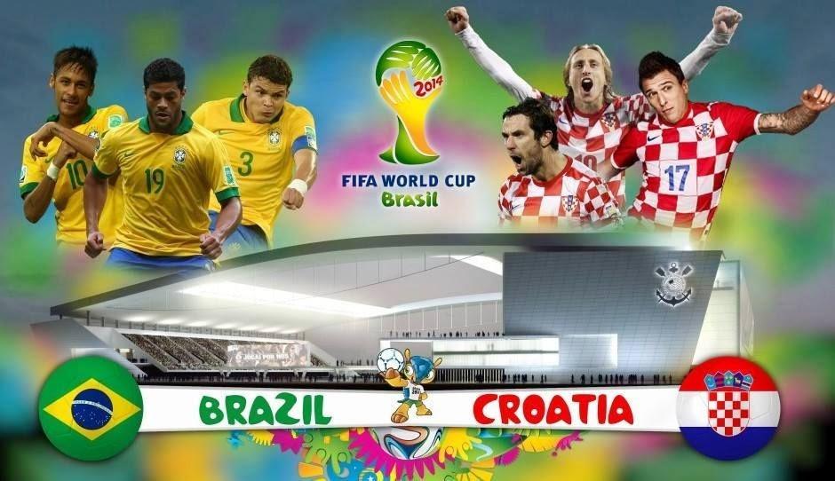 جميع القنوات الناقلة لمباراة الافتتاح لكأس العالم بين البرازيل وكرواتيا هذا اليوم