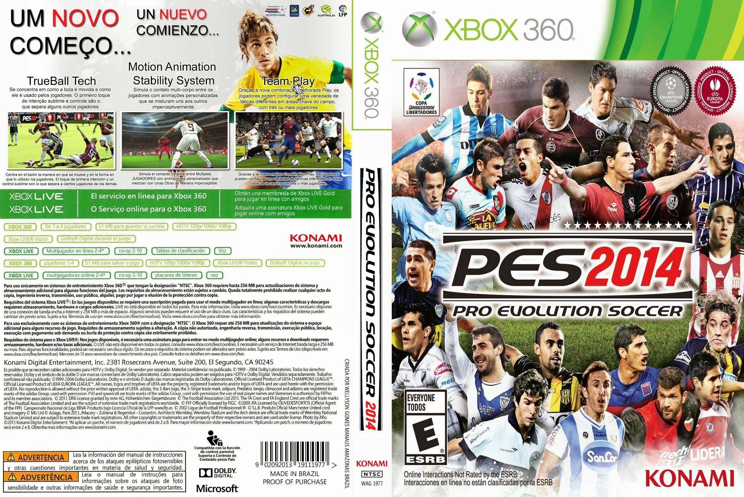 Capa PES 2014 Xbox 360