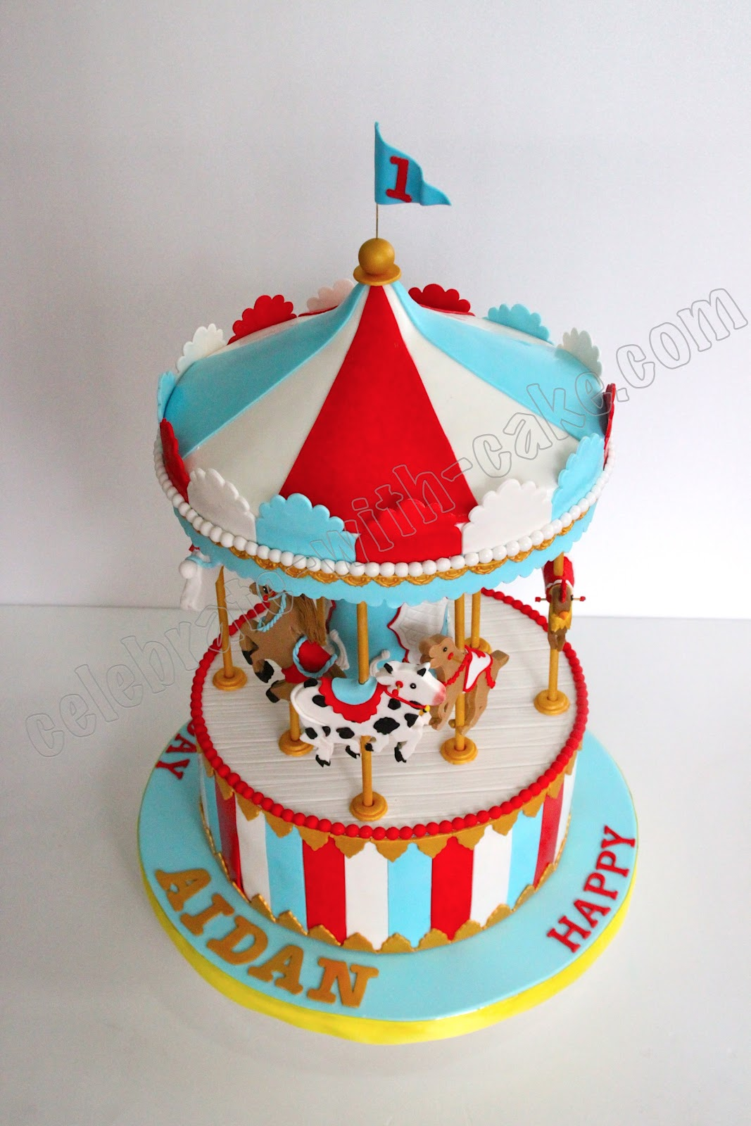 Static Carousel Cake