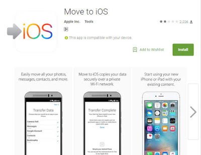 Move to iOS Android செயலி