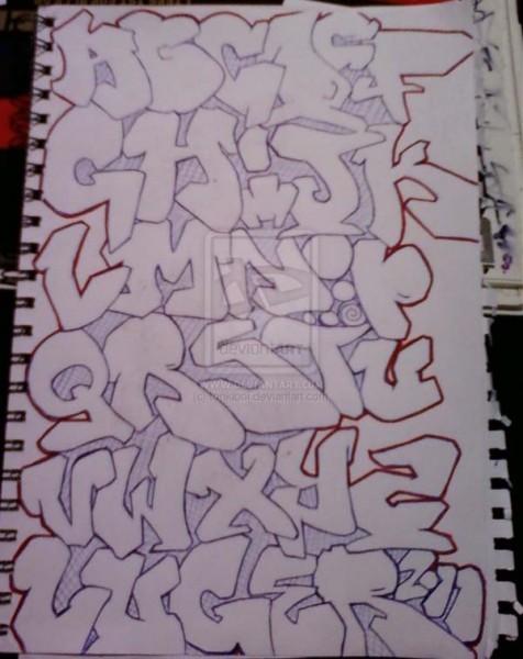 Graffiti Alphabet Throwie Style  Graffiti Lettering