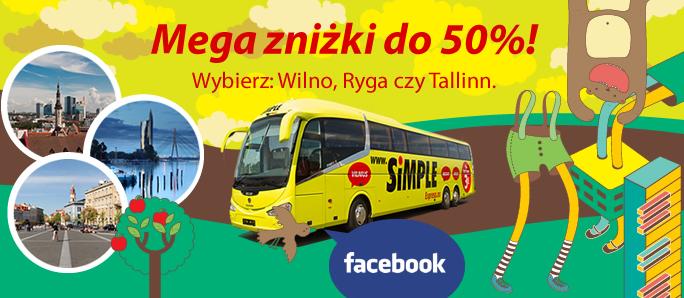 Simple Express promocja autokarowa Wilno Ryga Wallinn