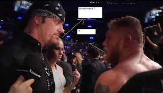 Taker and brock ufc 121