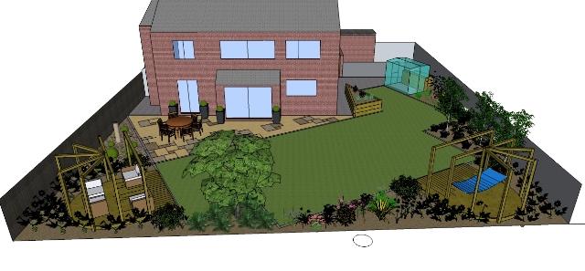 Free garden design r002 craig mcgibbon garden design and L shaped garden designs images