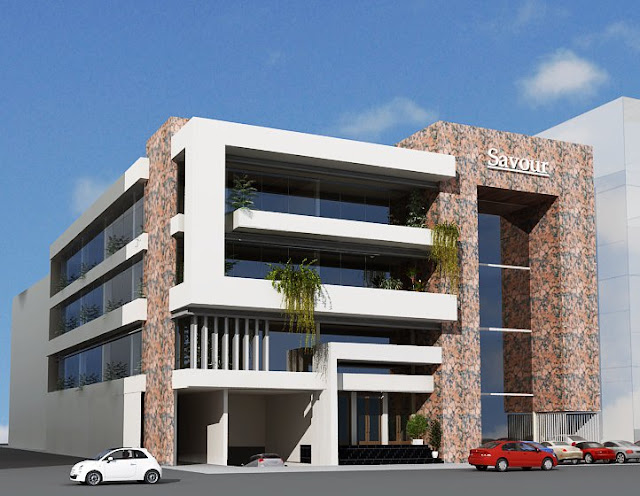 Commercial Front Elevation Designs : D front elevation commercial plaza tower