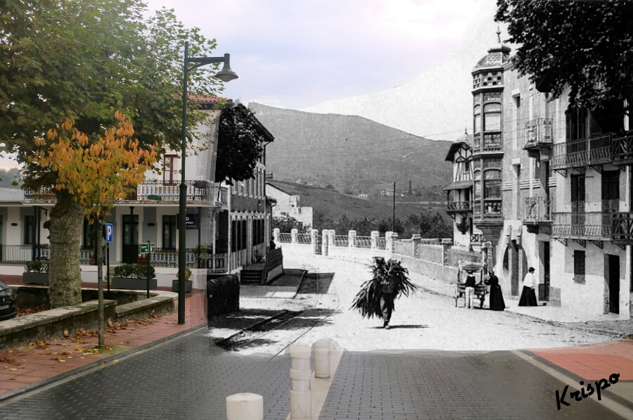 fotografia antigua del barrio de la alameda de hondarribia