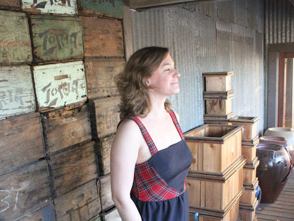 Colette's Hazel in Wool Gabardine and Wool Plaid