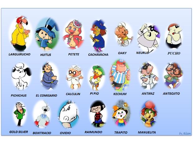 los personajes mas famosos de la historia: