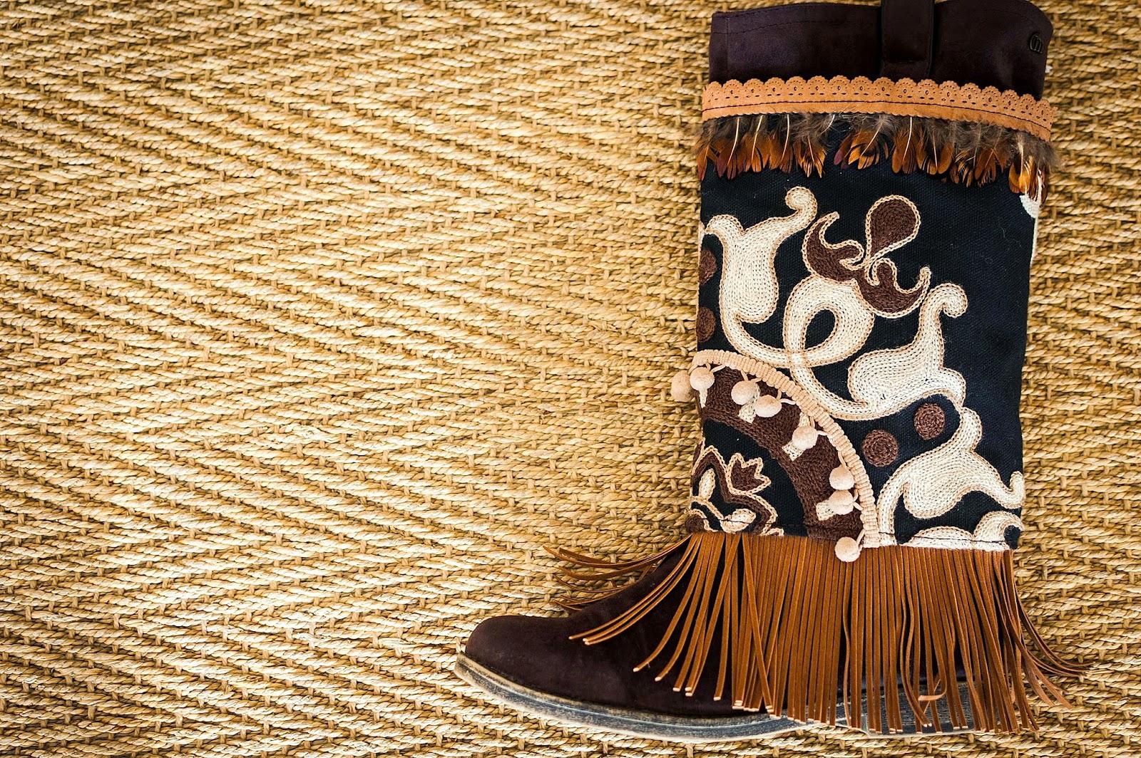 cubrebotas, boho, cover boots