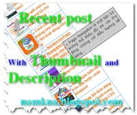 Recent post 1 cột với thumbnail có mô tả