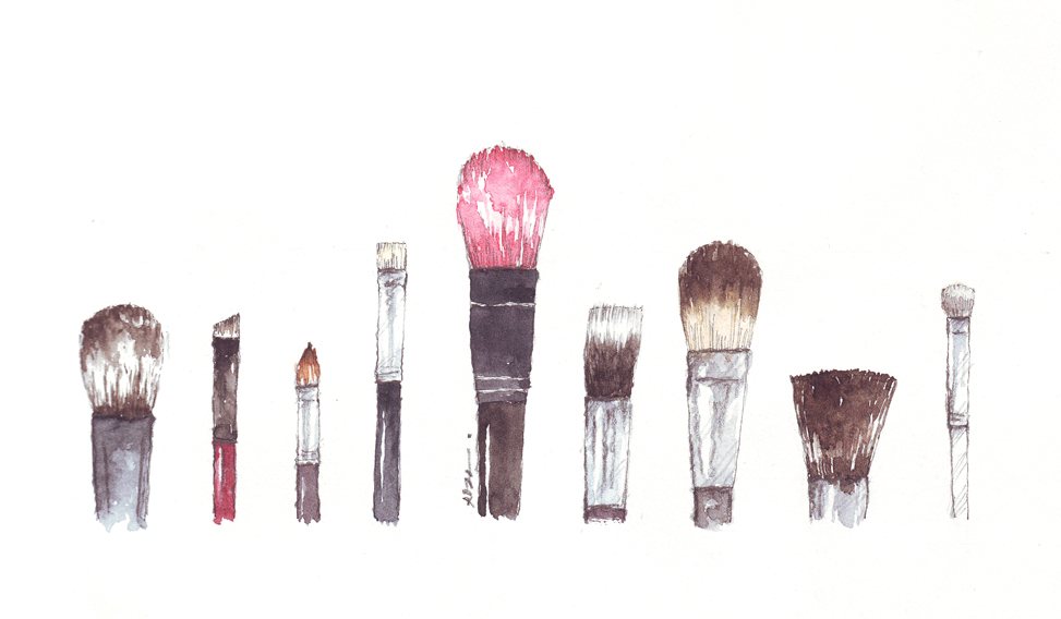 Drawings of makeup