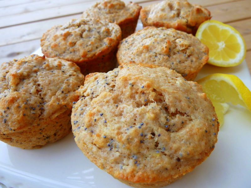 Cookin' Cowgirl: Whole Wheat Lemon Poppy Seed Muffins