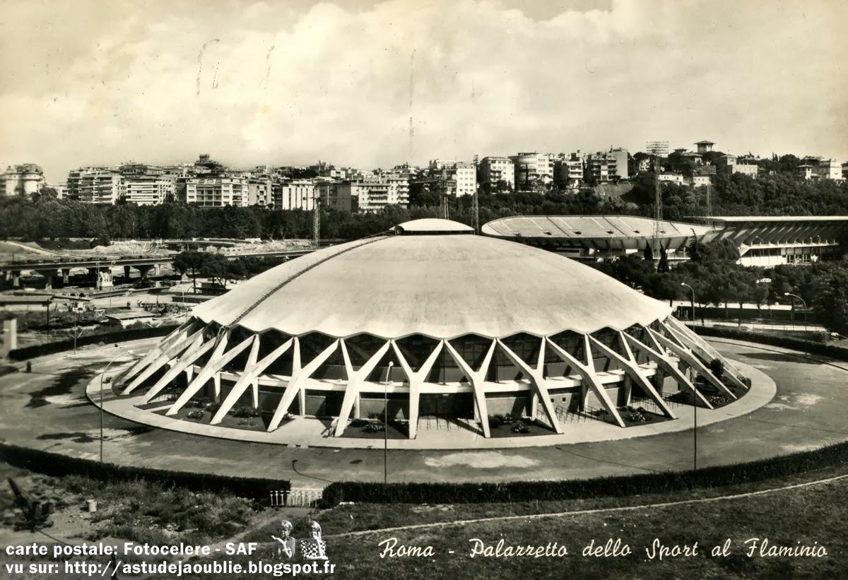 Rome palais des sports village olympique p l nervi - Palais des sports porte de versailles ...