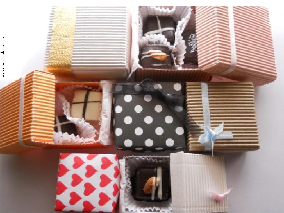 Cajas decoradas para bombones 3 tama os receta patrones y tutorial - Manualidades cajas decoradas ...