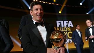 Lionel Messi Raih Ballon d'Or 2015
