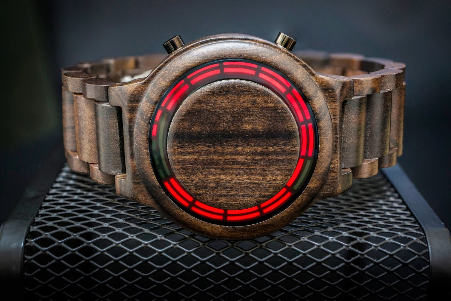 Tokyoflash Japan Kisai RPM Wood LED Watch
