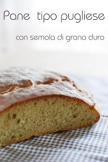 pane tipo pugliese con semola di grano duro rimacinata