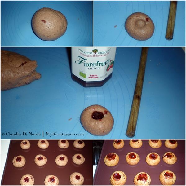 Biscotti con confettura nell'impasto