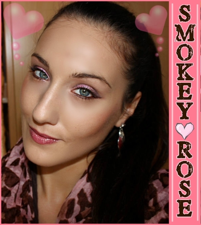 Smokey rose, makeup for blue-green eyes. Makeup by Jelena Zivanovic. Makeup for blue eyes. Makeup for green eyes. Sminka za plave oci. Sminka za zelene oci.