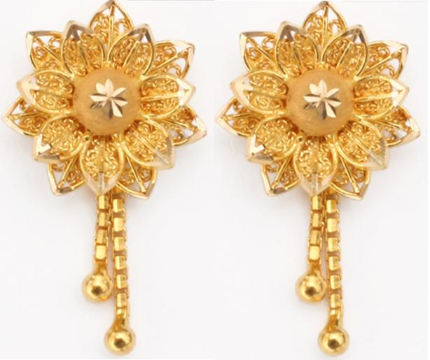 Indian Jewellery design 2016 Designer Gold Earrings
