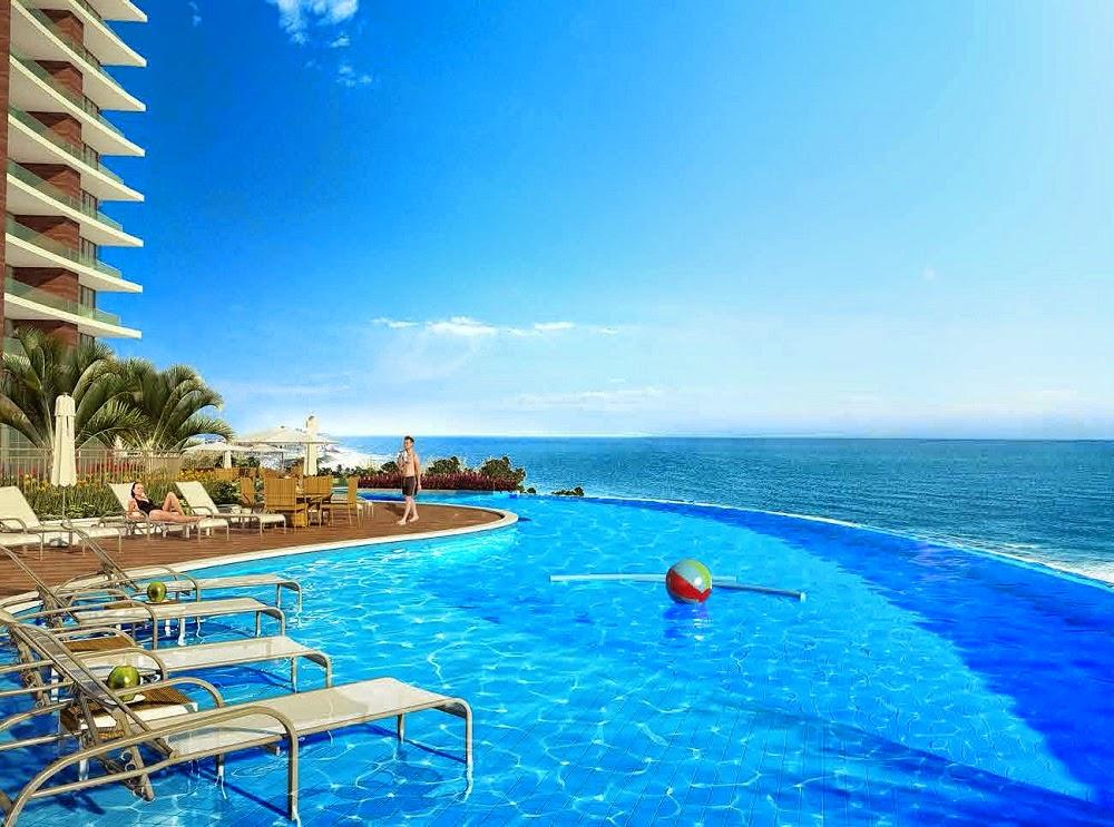 D´Azur Jaguaribe Salvador - piscina com borda infinita