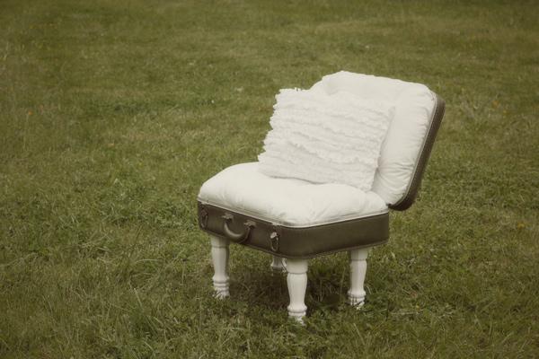 vintage suitcase chair - see kate sew