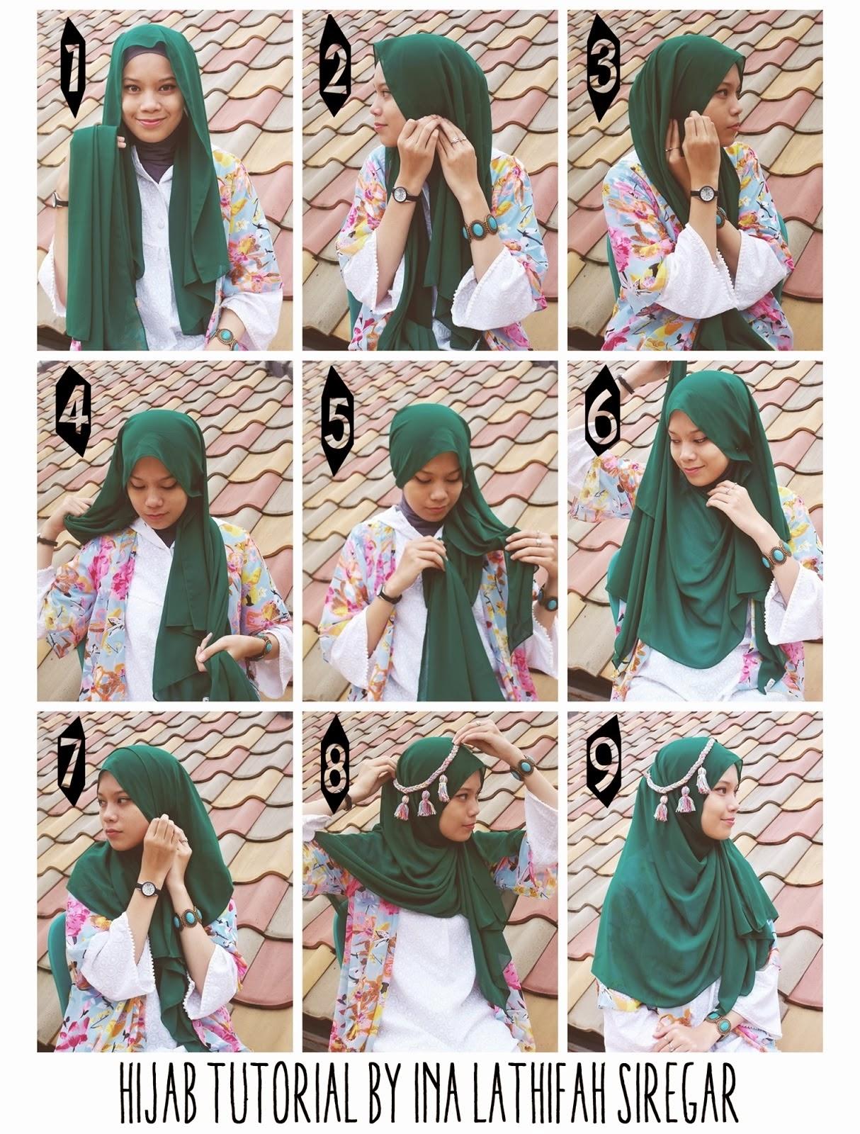 ... Jilbab Syar'i Kreasi Modern   Cara Memakai Jilbab Tutorial Hijab