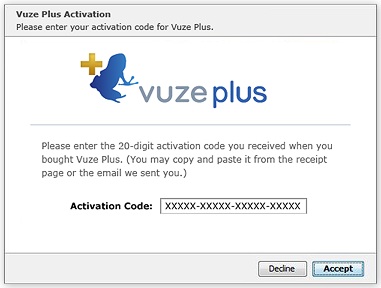 vuze plus free activation code