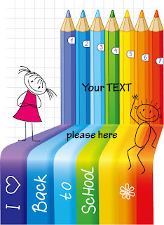 色鉛筆の落書きの背景 Cartoon handpainted color pencil lead イラスト素材