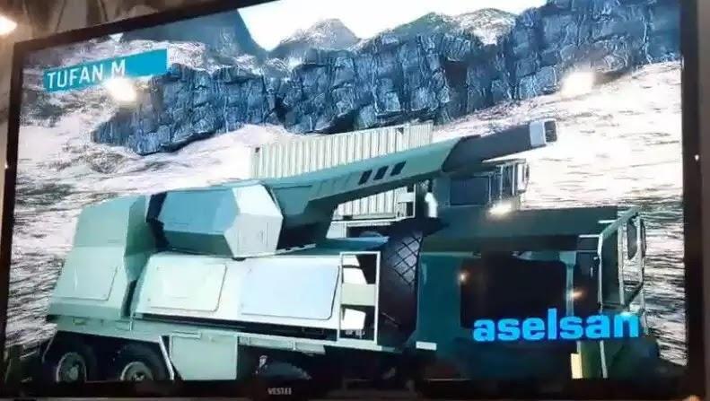Αντιαεροπορική άμυνα περιοχής με ηλεκτρομαγνητικά πυροβόλα σε τροχοφόρα οχήματα από την Τουρκία