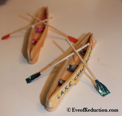 How to make a popsicle stick canoe craft eve of reduction for Cool things made out of popsicle sticks