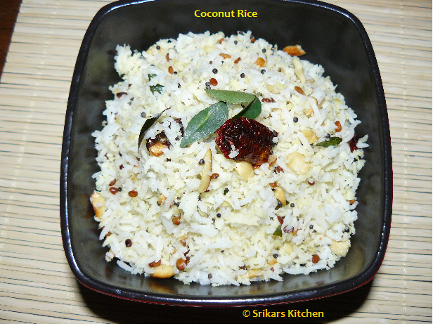 COCONUT RICE- THENGAI SADHAM