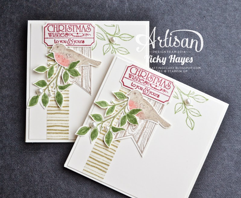 Buy the supplies online to make your Christmas cards at Vicky Hayes' UK Stampin' Up blog