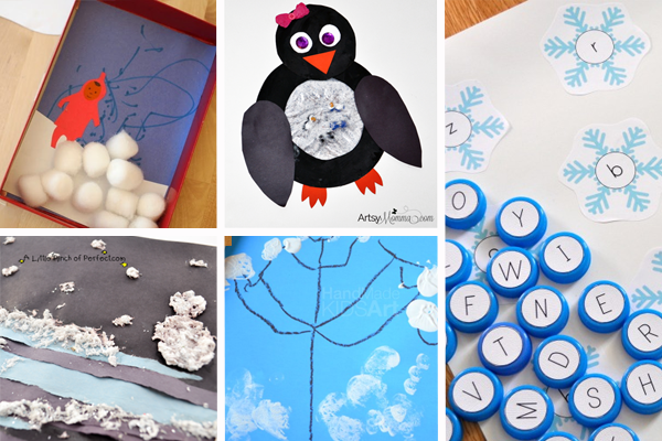 Winter Themed Crafts & Activities for Preschoolers | A Little Pinch of ...