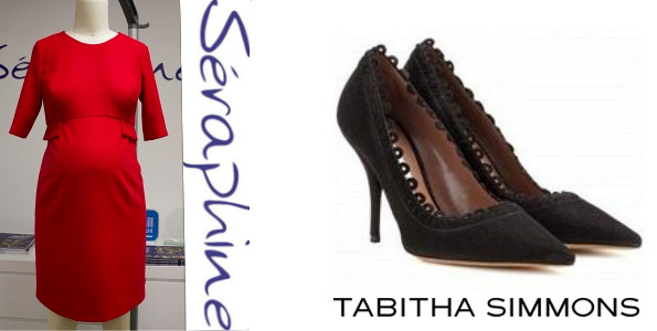 Princess Victoria's SERAPHINE Bespoke Maternity Dress and TABITHA SIMMONS Shoes