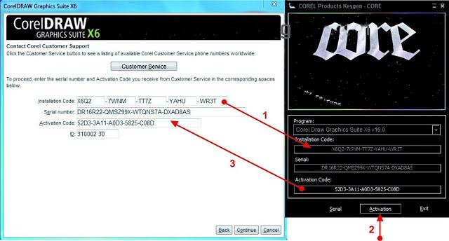 corel draw x6 keygen download