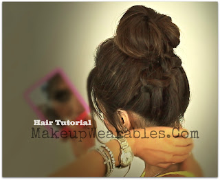 Hair tutorial | How to make a perfect braided messy bun for medium long hair | school hairstyles updos