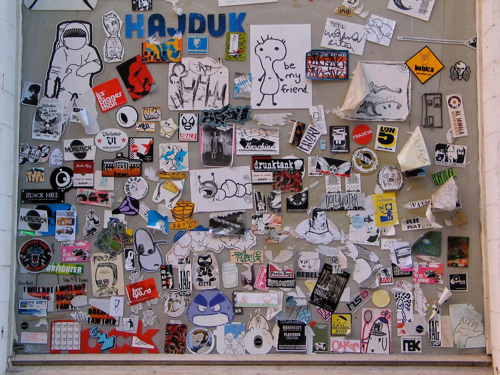 Sticker wall graffiti - Graffiti Sticker Art