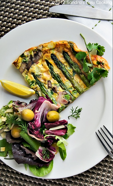 Breakfast, Lunch or Dinner recipe for delicious easy Frittata