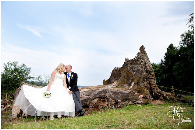 fallen tree, fallen tree wedding photo, whitley chapel, st helens church wedding, whitley chapel wedding, curly farmer, katie byram photographer, one digital image, northumberland wedding photographer, wedding wellies, wedding jewellery