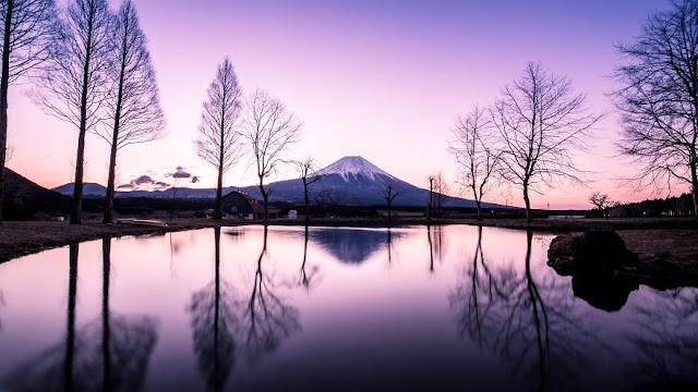 A beleza e serenidade das belas paisagens do Japão
