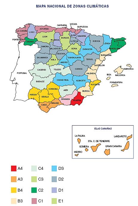 mapa nacional de zonas climaticas