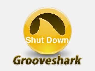 Grooveshark shut down image