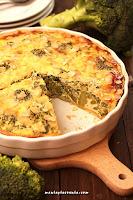 Quiche z brokułami i gorgonzolą