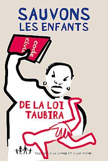affiche contre la loi Taubira
