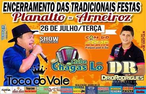 Tradicionais Festas de Julho - Planalto - Arneiroz.