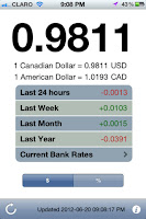 USD Forex Tracker for iOS 1.0: New, simple, no-clutter app that displays real-time CAD/USD Forex