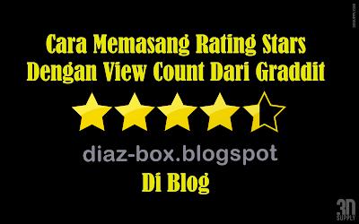 Cara Memasang Rating Stars
