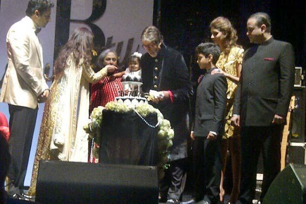 Aaradhya Bachchan at Big B Amitabh Bachchan's 70th Birthday Bash Aara1