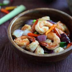 rasa malaysia how to make recipe for lemongrass shrimp by bee yinn low